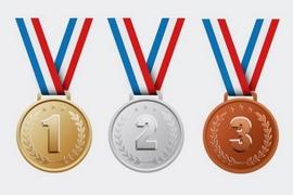 Les 4 médaillés de la première édition des Olympiades t...